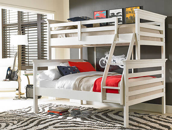 Dolce Kids & Teens | Lucca Collection Bunk Bed - Sea Shell White